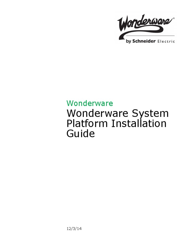 wsp install guide v2014 installation computer programs rh es scribd com Wonderware Pricing Wonderware Situational Awareness