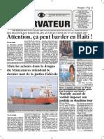 10 28 2015 Haiti Observateur Bateau Cocaine Election