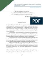 Hacia Un Sistema Integral de Justicia y Politicas Publicas Acordes Con El Marco Juridico Internacional