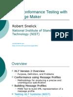 HL7 Conformance Testing with Message Maker