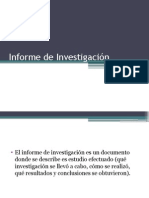 Informe de Investigación.