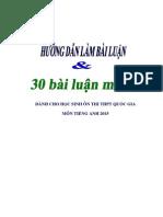 Huong Dan Lam Bai Luan Va 30 Bai Luan Tieng Anh Luyen Thi Thpt Quoc Gia 2015