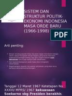 Sistem Dan Struktur Politik-ekonomi Indonesia Masa Orde Baru