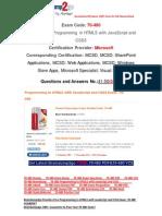 [Braindump2go] Latest 70-480 PDF Free 100% Pass Guaranteed 41-50