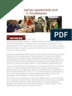 Sri Lanka Breaches Agreements and Promises!- S. v. Kirubaharan