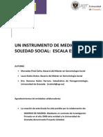 Escala de Soledad Social Para Adultos Mayores