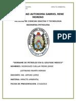 DERRAME DE PETROLEO EN EL GOLFO DE MEXICO
