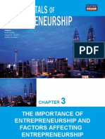 Chapter 3 Importance of Entrepreneurship & Factors Affecting