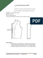Falso Para Cuello Sport y Diseños de Escotes
