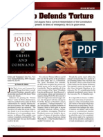 John Yoo Defends Torture