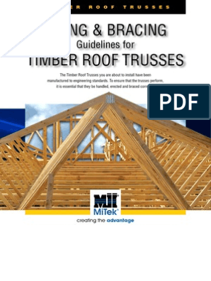 Fixing And Bracing Guidelines For Timber Roof Trusses 2015 Issue 1 Truss Framing Construction