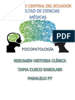 Historia Clínica Psicológica