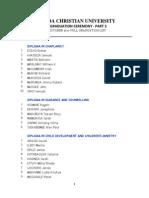 Uganda Christian University Graduation list 2015