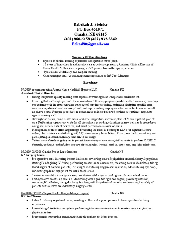 Rebekah Steinke Registered Nurse Rn Case Manager