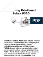 Cleaning Printhead Zebra P330i