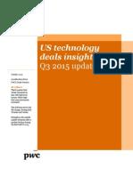 PwC Technology Deals Insights Q3 2015