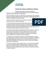 Tecnica Reduccion de Volumen Utilizada en VidaCel