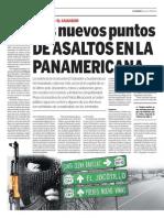 Los nuevos puntos de asaltos en La Panamericana