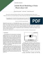 modeling of pv panels
