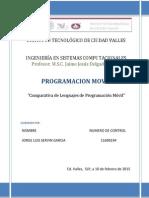 Comparativa de Lenguajes de Programación Móvil