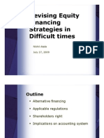 Equity Financing Strategies