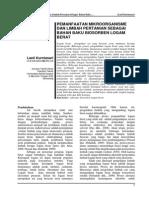 Pemanfaatan Mikroorganisme Dan Limbah Pertanian Sebagai Bahan Baku Biosorben Logam Berat