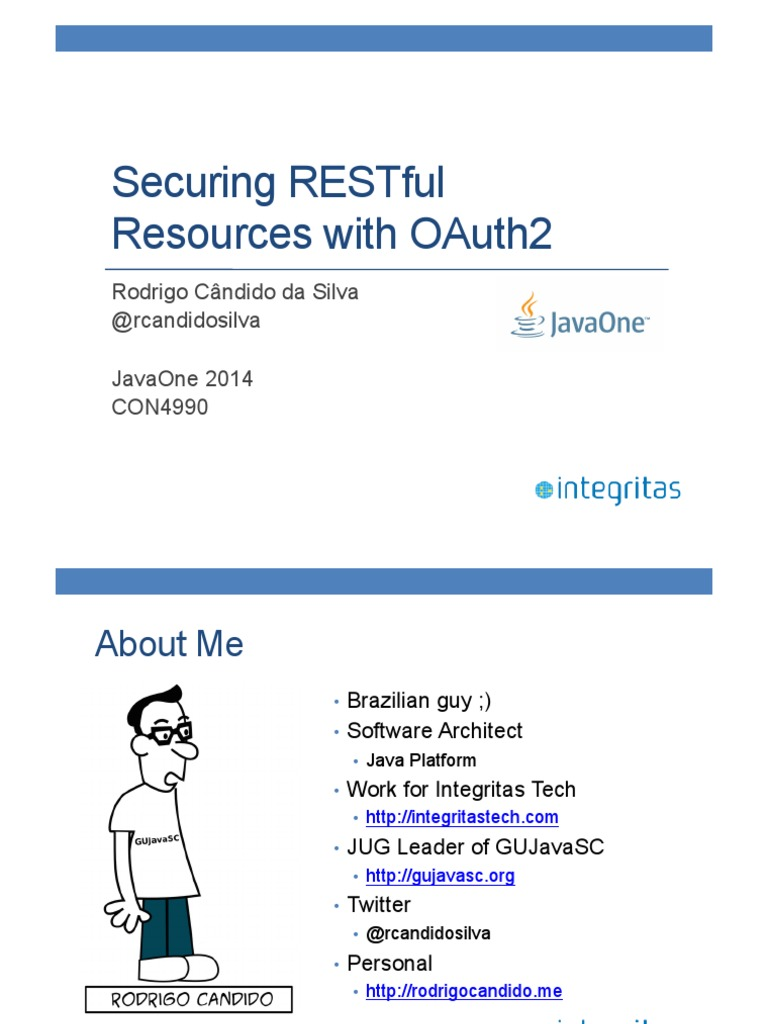 CON4990_Candido Da Silva-JavaOne 2014 - Securing RESTful