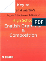 English Grammar and Composition - Answer Keys