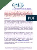 Global Action for Burma GAB Action on China