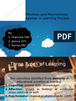 Cognitive, Affective, And Psychomotor Should Go Together In Studying