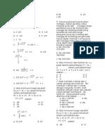 Soal Remedial Matematika