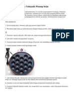 Cara Menghasilkan Takoyaki Pisang Keju
