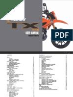 keeway tx200g user manual English version