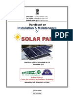 Handbook on Installation & Maintenance of Solar Panel