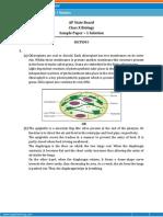 AP-Biology Sample Paper Solution Class 10