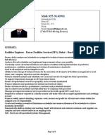 Tony C Jose- Facilities & Estimations Engineer