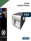 Datamax m4206 Op Manual