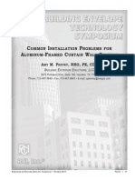 2011-Bes-peevey Common Installation Problems Foraluminum Framed Curtain Wall Systems