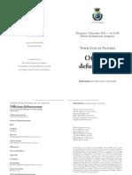 Officium Defunctorum  DA VICTORIA Arzignano 1 novembre 2015