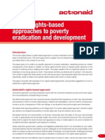 Human rights-based approach to poverty eradication and development