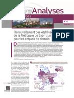 Renouvellement des établissement du Grand Lyon - Analyse INSEE