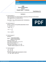 Mathematics Sample Paper-1-SOLUTION-Class 10-(SA-I)