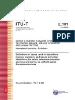 T-REC-E.101-200911-I!!PDF-E