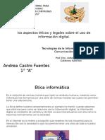 Los Aspectos Eticos y Legales Sobre El Uso de Informacion Digital