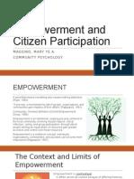 Empowerment and Citizen Participation