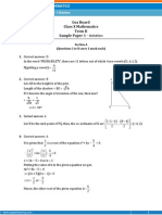 GOA-Mathematics Sample Paper-1-SOLUTION-Class 10 Question Paper (SA-II)