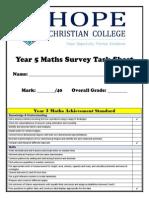 year 5 maths survey task