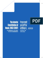 Interim Constitution of Nepal (Till 6th Amendment)