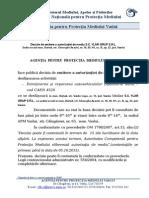 Decizie Emitere Autorizatie SC YLAR GRUP SRL - Spalatorie Auto, Barlad - 15.09.2015