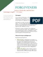 r e a l  forgiveness